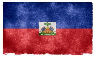 Haiti grunge vlag gedragen Gratis Foto