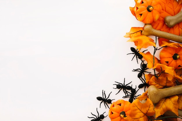 Halloween concept met ruimte aan de linkerkant Gratis Foto