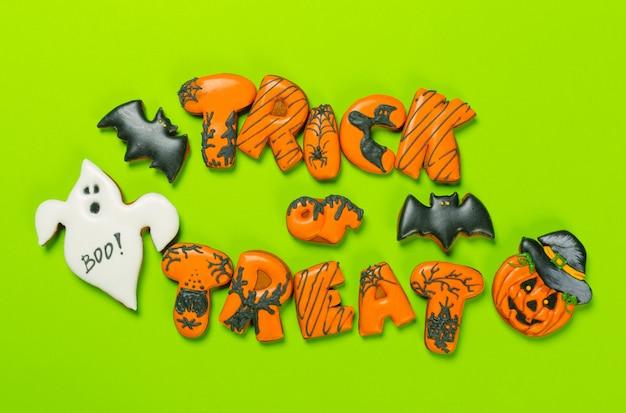 Halloween koekjes Premium Foto