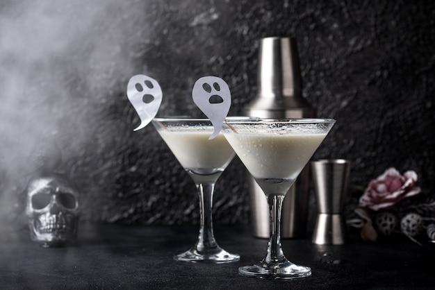 Halloween kokos cocktails Premium Foto