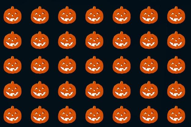 Halloween-pompoenenpatroon Premium Foto
