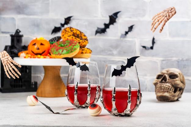 Halloween trick or treat feesttafel Premium Foto