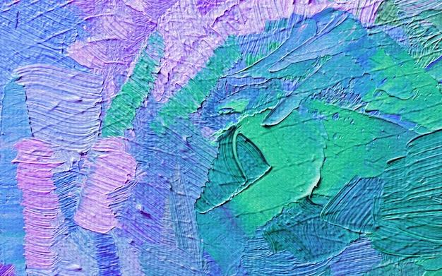 Hand getekend olieverfschilderij. abstracte kunstachtergrond. olieverf schilderij textuur Premium Foto