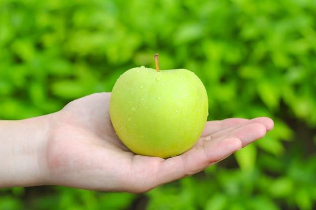 Hand houden van een appel Gratis Foto