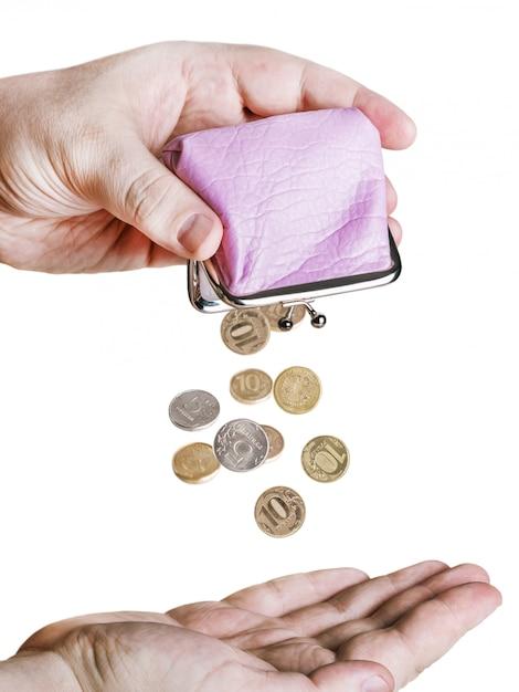 Hand houdt de portemonnee Premium Foto