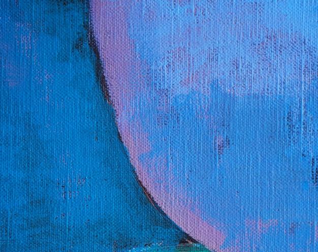 Hand tekenen olieverfschilderij blauwe kleur abstracte achtergrond en textuur. Premium Foto