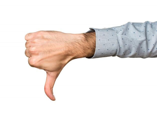 Hand van de mens maakt slecht signaal Gratis Foto