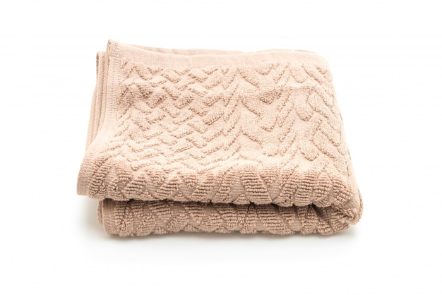 Handdoek op wit Premium Foto