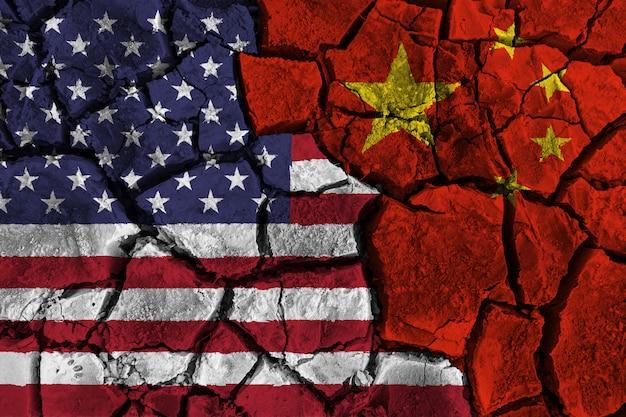 Handelsoorlog tussen de verenigde staten van amerika versus china Premium Foto