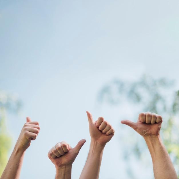 Handen gebaren cool Gratis Foto
