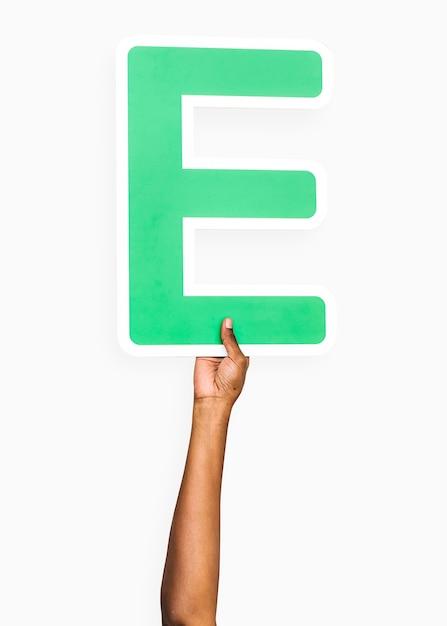 Handen met de letter e Gratis Foto