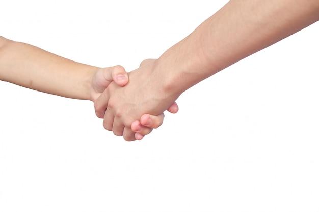 Handen schudden van twee mannelijke mensen Premium Foto
