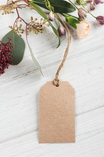 Handgemaakt geschenk en label Premium Foto