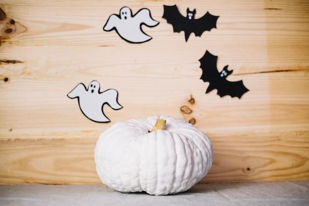 Pompoen En Halloween.Handgemaakte Pompoen En Halloween Decoraties Foto Gratis