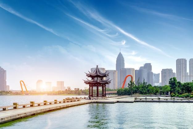 Hangzhou west lake landschap Premium Foto