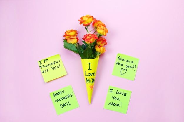 Happy mother's day notitie herinnering Premium Foto