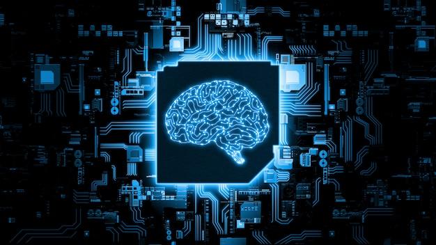 Hardware concept van kunstmatige intelligentie. Premium Foto