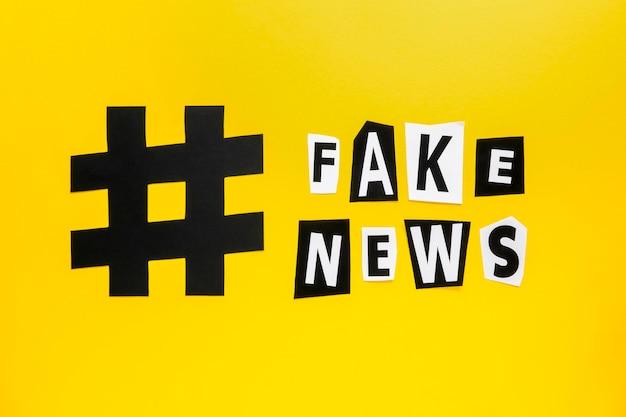 Hashtag scherp symbool voor nepnieuwsmedia Gratis Foto
