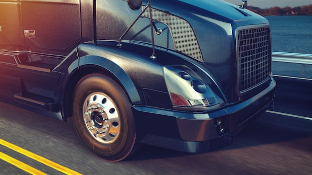 Headers truck running. Premium Foto
