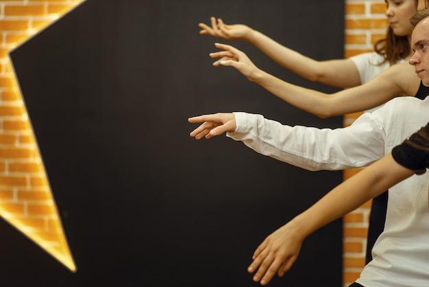 Hedendaagse dansartiesten handen Premium Foto