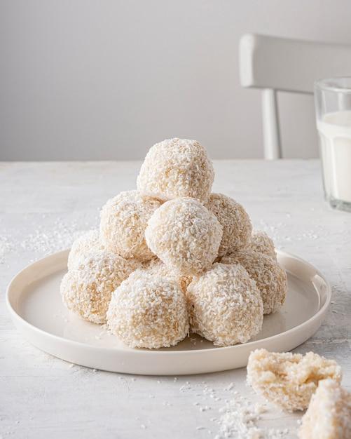 Heerlijk suikergoed op plaat Gratis Foto