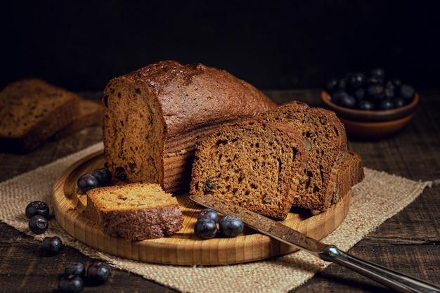 Heerlijke cake met bosbessen Gratis Foto
