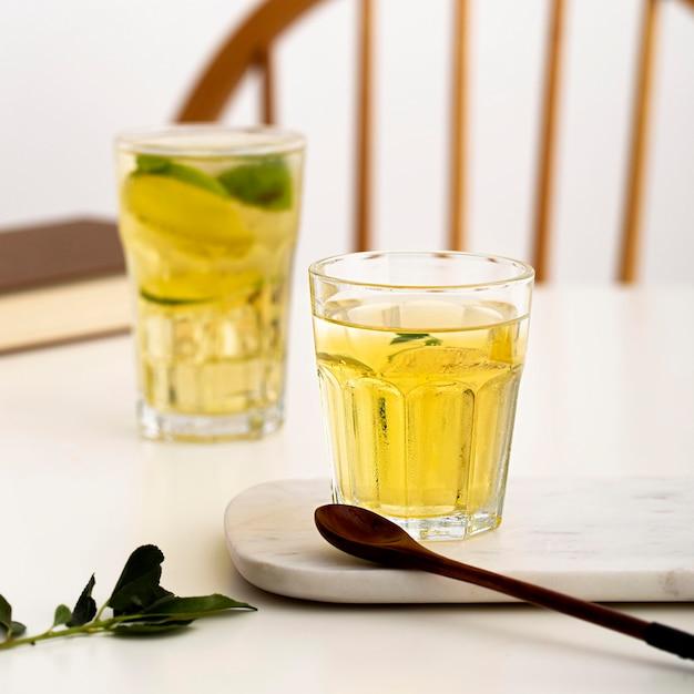 Heerlijke drankjes met pepermunt Gratis Foto