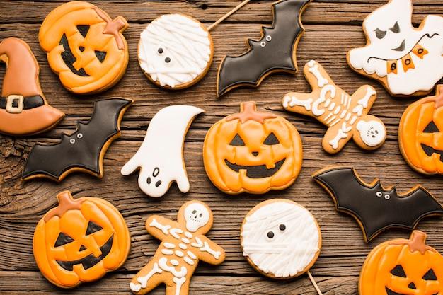 Heerlijke halloween-feestkoekjes Gratis Foto