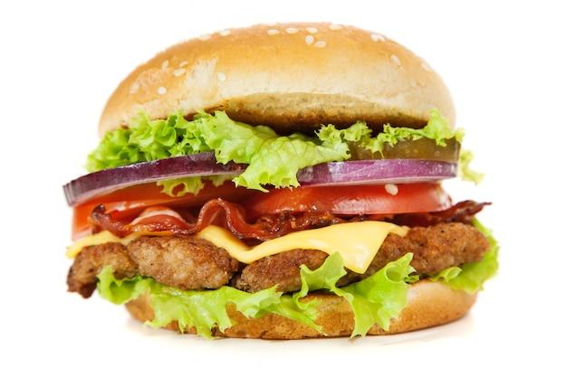 Heerlijke hamburger Premium Foto