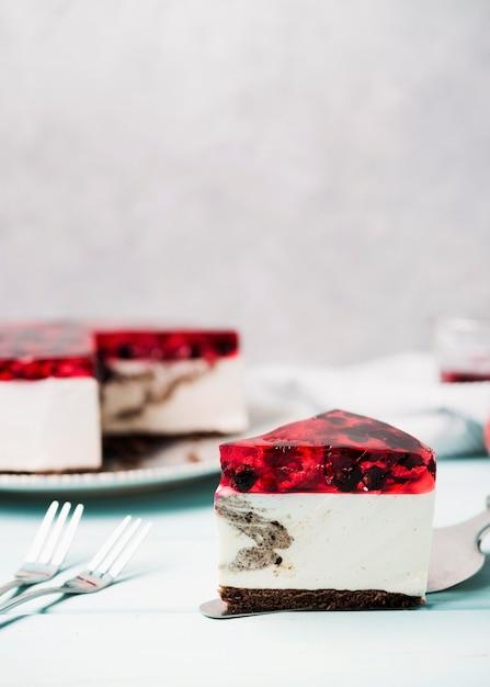 Heerlijke jelly cake segment Gratis Foto