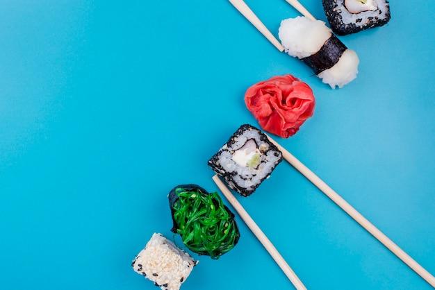 Heerlijke sushi rolt Gratis Foto