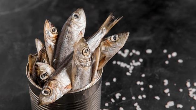 Heerlijke verse vis in blik Gratis Foto