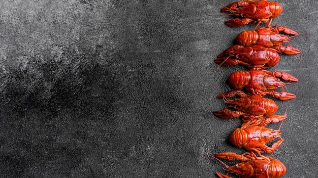 Heerlijke zeevruchten kreeft kopie ruimte Gratis Foto