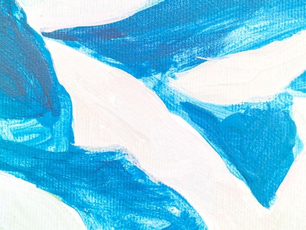 Heldere blauwe lijnen op wit canvas Gratis Foto