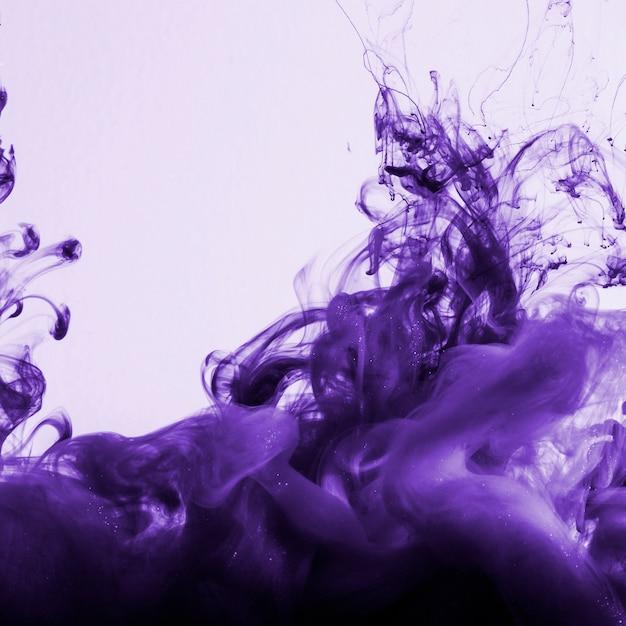 Heldere dichte violette wolk van inkt Gratis Foto