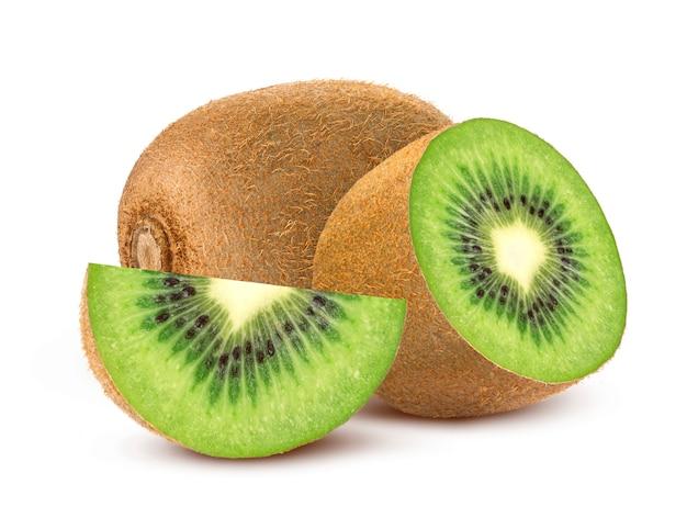 Hele en gesneden kiwi Premium Foto