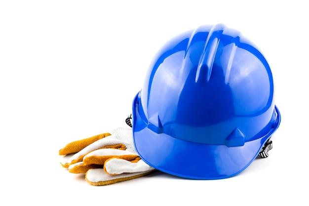 Helmveiligheid op de werkplek. Premium Foto