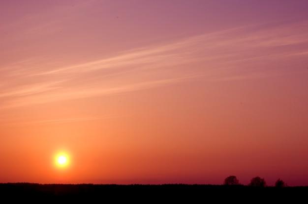 Hemel bij zonsondergang Gratis Foto