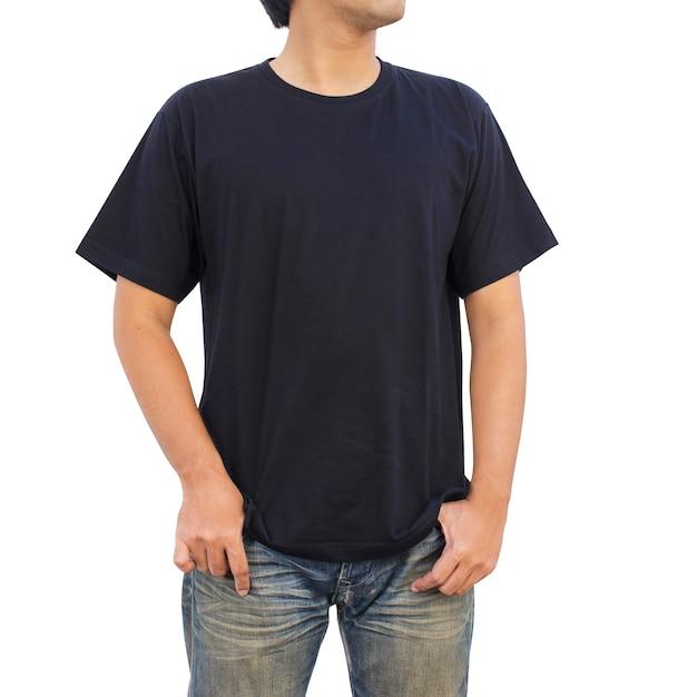 Heren in zwart t-shirt Premium Foto
