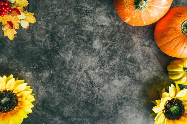 Herfst thanksgiving achtergrond Gratis Foto