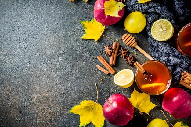 Herfst winter hete pittige thee Premium Foto