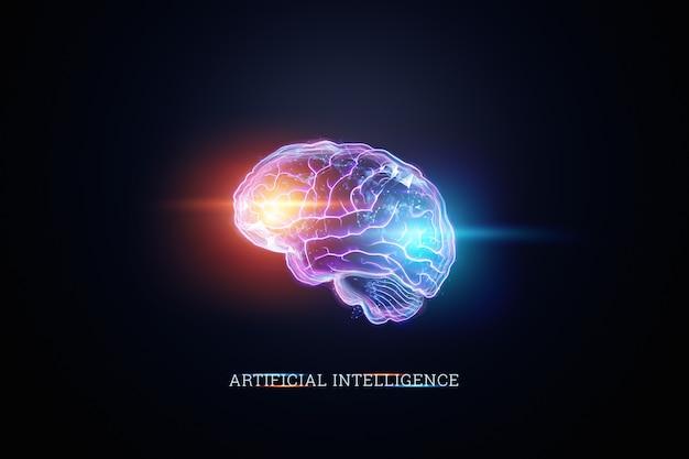 Het beeld van het menselijk brein Premium Foto