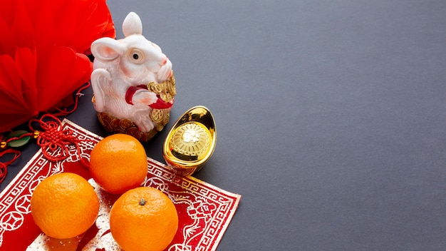 Het chinese nieuwe jaar van het rattenbeeldje Gratis Foto