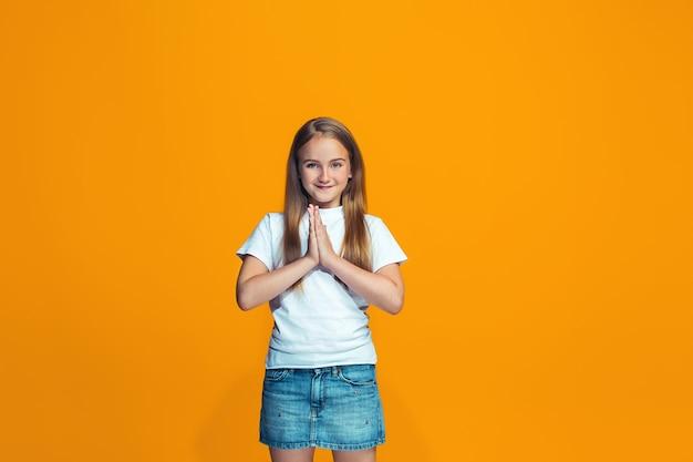 Het gelukkige meisje van de succestiener Gratis Foto