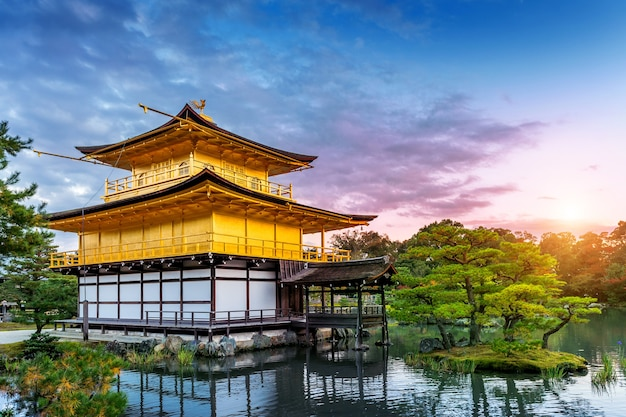 Het gouden paviljoen. kinkakuji-tempel in kyoto, japan. Gratis Foto