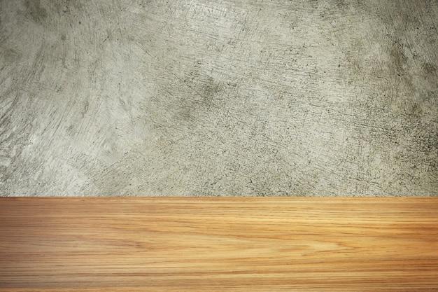 Het hout en cement textuur afbeelding materiaal voor achtergrond. Premium Foto
