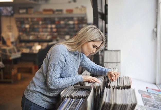 Het juiste vinyl kiezen Premium Foto