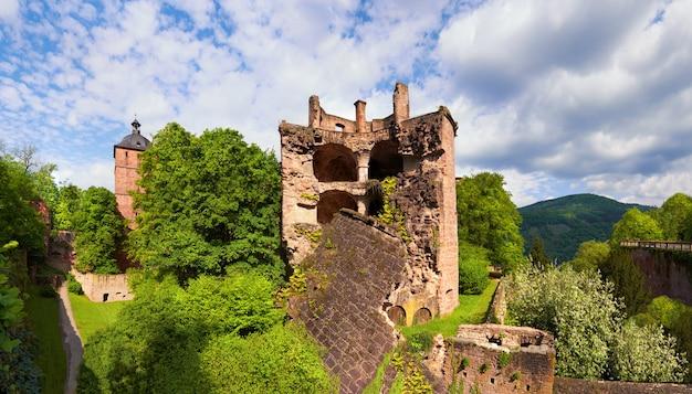 Het kasteel van heidelberg in de lente, panorama Premium Foto