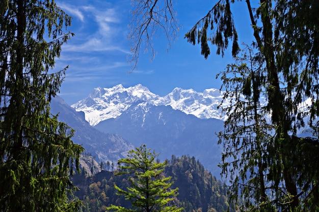Het landschap van de himalaya, nepal Premium Foto