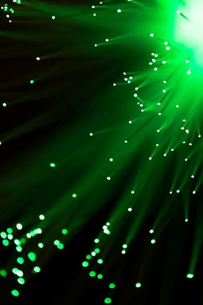 Het licht van de close-upvezeloptiek in groen Gratis Foto